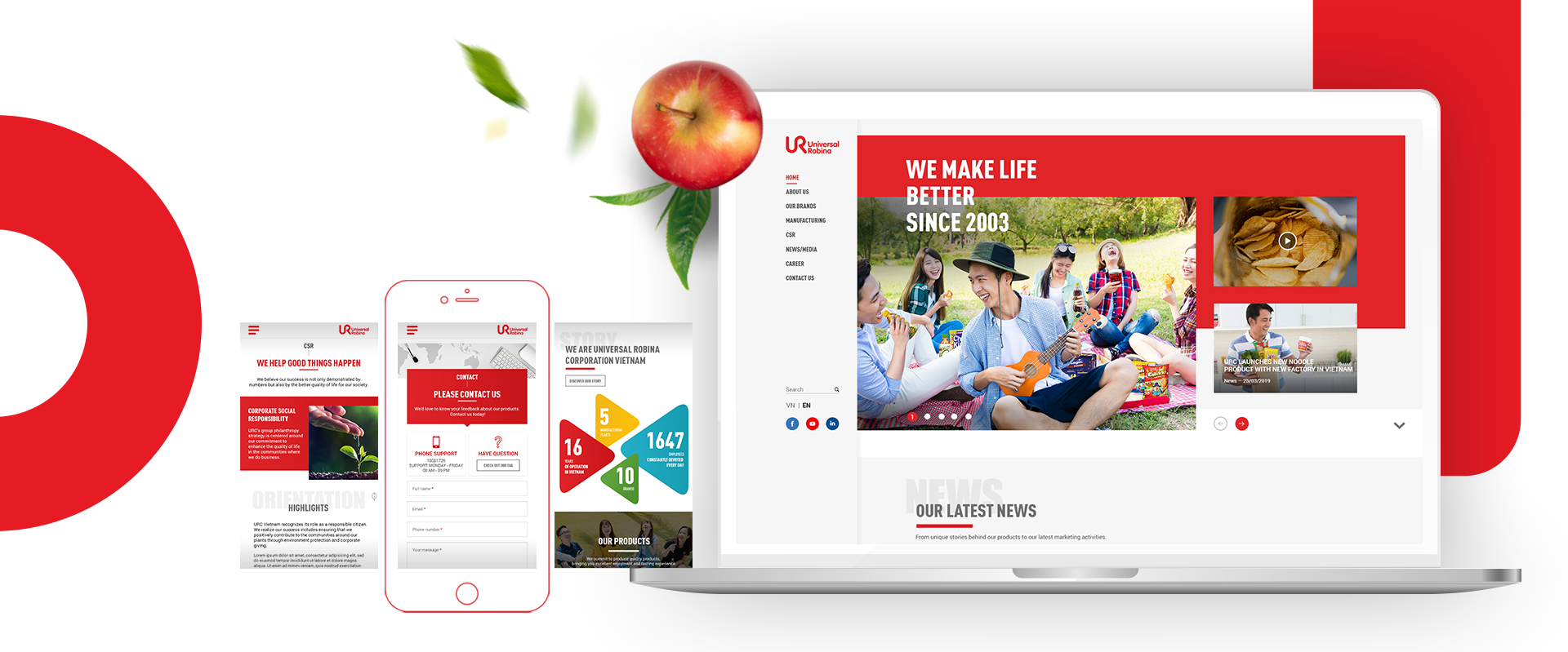 URC - Website development